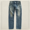 Ralph Lauren RRL Low Straight Leg Selvedge Denim Jeans Midland Wash Size 28-Premium Denim