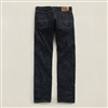 Ralph Lauren RRL Low Straight Once Washed Dark Blue Selvedge Cotton Denim Size 30 x 30 - Premium Denim
