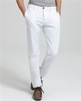 Vince Selvage White Twill Chino Pants - Premium Denim