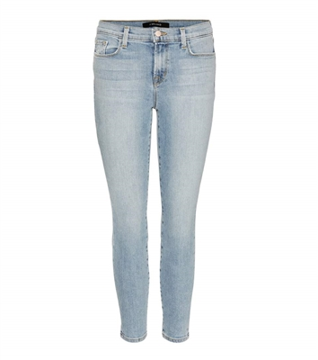 J Brand Skinny Capri Jeans in Beach Line light blue wash style# 835T178