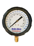 "4"" Glycerin Filled 0-100 PSI /0-1680 GPM Dual Read Gauge"