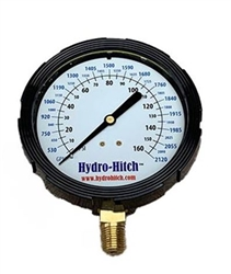 "4"" Glycerin Filled 0-160 PSI /0-2120 GPM Dual Read Gauge"