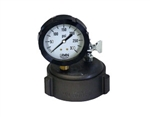 "2 1/2"" Cap Gauge w/ 0-300 Glycerin Filled Gauge & Bleeder Valve"