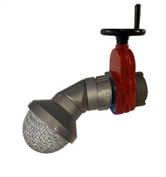 "2 1/2"" Fire Hydrant Flushing Diffuser & Heavy Duty Gate Valve"