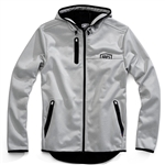 100% 2018 Mission Hooded Softshell Zip Jacket - Grey