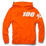 100% 2018 Youth Disrupt Hooded Pullover Sweatshirt - Orange