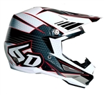 6D - ATR-1 Blade Helmet- White/Red