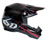 6D - ATR-1 Carbon Electric Helmet- Electric Red