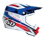 6D - ATR-1 Pilot Helmet- Red/White/Blue