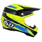 6D - ATR-1 Pilot Helmet- Yellow/Blue