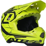 6D 2018 ATR-2 Aero Full Face Helmet - Neon Yellow