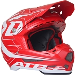 6D 2018 ATR-2 Aero Full Face Helmet - Red