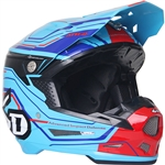 6D 2018 ATR-2 Circuit Full Face Helmet - Neon Blue