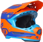6D 2018 ATR-2 Sector Full Face Helmet - Orange/Blue