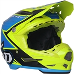 6D 2018 ATR-2 Strike Full Face Helmet - Yellow/Blue