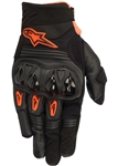 Alpinestars 2018 Megawatt Hard Knuckle Gloves - Black Anthracite/Orange