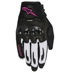 Alpinestars 2018 Womens Stella SMX-1 Air Carbon V2 Gloves - Black/White/Fuchsia