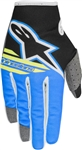 Alpinestars 2018 Youth Radar Flight Gloves - Black/Aqua/Yellow