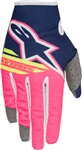 Alpinestars 2018 Youth Radar Flight Gloves - Blue/Pink/White