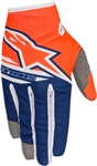 Alpinestars 2018 Youth Radar Flight Gloves - Orange/White/Blue