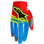 Alpinestars 2018 Union LE Radar Flight Gloves - Red/BAlpinestars 2018 Union LE Radar Flight Gloves - Red/Blue/Yellowellow