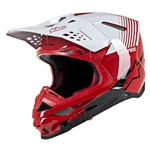 ALPINESTARS - SUPERTECH S-M10 DYNO HELMET RED/WHITE