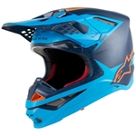 ALPINESTARS - SUPERTECH S-M10 HELMET BLACK/AQUA/ORANGE
