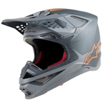 ALPINESTARS - SUPERTECH S-M10 HELMET GREY/ORANGE