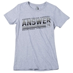 Answer 2018 Womens Ascend Tee - Heather Gray