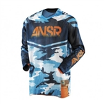 Answer 2018 A17.5 LE Vented Jersey - Camo Blue