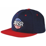 Answer 2018 Patriot Snapback Hat - Blue/Red