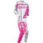 Answer 2018 Womens Syncron WMX Combo Jersey Pant - Grey/Pink
