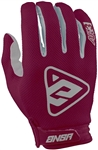 Answer 2018 AR-3 Gloves - Berry/Gray