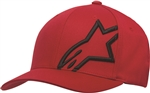 Alpinestars 2018 Corp Shift 2 Curved Brim Hat - Red/Black