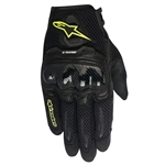 Alpinestars 2018 Womens Stella SMX-1 Air Carbon V2 Gloves - Black/White/Yellow Fluo