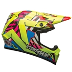 Bell 2017 MX-9 Tagger Double Trouble MIPS Full Face Helmet - Hi-Vis/Yellow