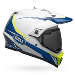 Bell 2017 MIPS MX-9 Adventure Equipped Full Face Helmet - Gloss White/Blue/Yellow Torch