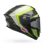 Bell 2017 Race Star Full Face Helmet - Gloss White/Hi-Viz Green Sector