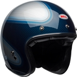 Bell 2018 Custom 500 Carbon RSD Helmet - Candy Blue Jager