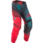 Fly Racing 2018 Kinetic Mesh Crux Pant - Teal/Red/Black