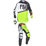 Fly Racing - 2017 Youth F-16 Combo- Black/Lime