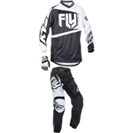 Fly Racing - 2017 Youth F-16 Combo- Black/White