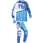 Fly Racing - 2017 Youth F-16 Combo- Blue/Hi-Vis