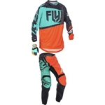 Fly Racing - 2017 Youth F-16 Combo- Orange/Teal