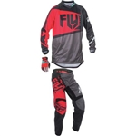 Fly Racing - 2017 Youth F-16 Combo- Red/Black/Grey