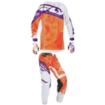 Fly Racing - 2017 Youth Kinetic Crux Combo- Orange/Purple