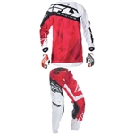 Fly Racing - 2017 Youth Kinetic Crux Combo- Red/White