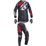 Fly Racing - 2017 Youth Kinetic Relapse Combo- Black/Red