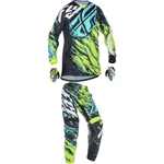 Fly Racing - 2017 Youth Kinetic Relapse Combo- Lime/Blue