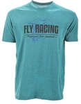 Fly Racing 2018 ERA Tee - Cyan Black Heather